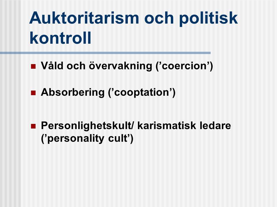 Auktoritarism och politisk kontroll