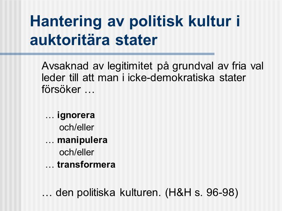 Hantering av politisk kultur i auktoritära stater