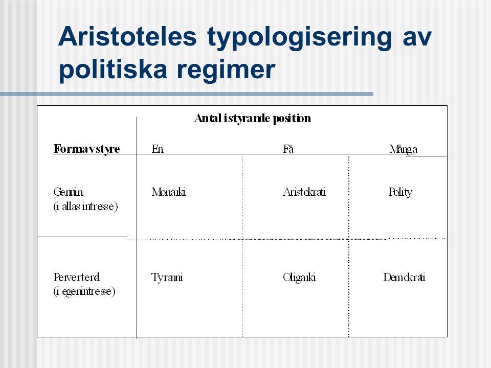 Aristoteles typologisering av