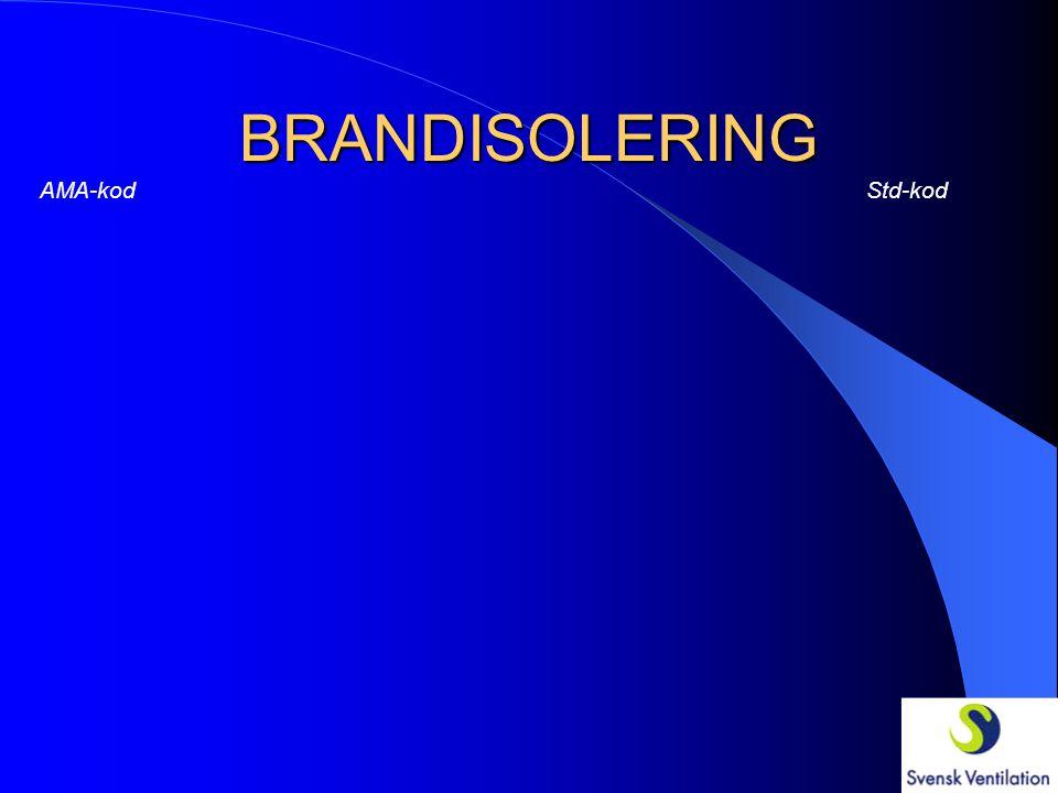 BRANDISOLERING AMA-kod Std-kod