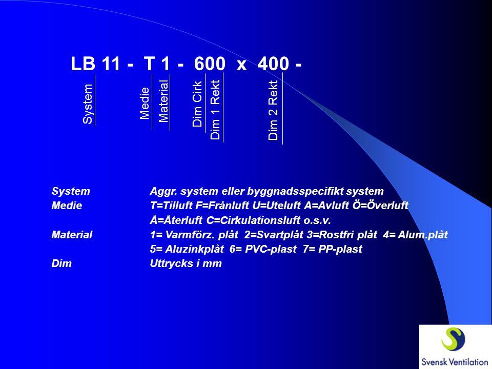 LB 11 - T 1 - 600 x 400 - System Medie Material Dim Cirk Dim 1 Rekt