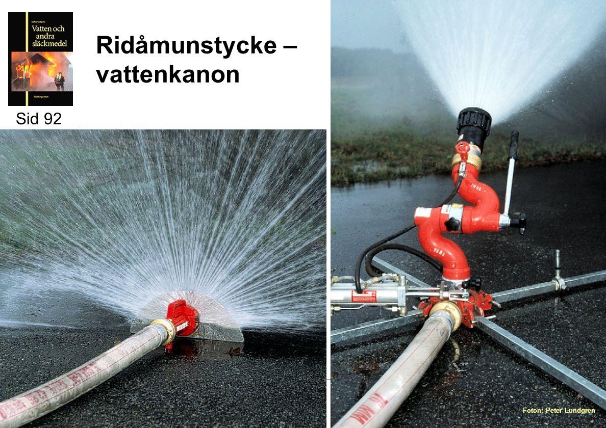 Ridåmunstycke – vattenkanon