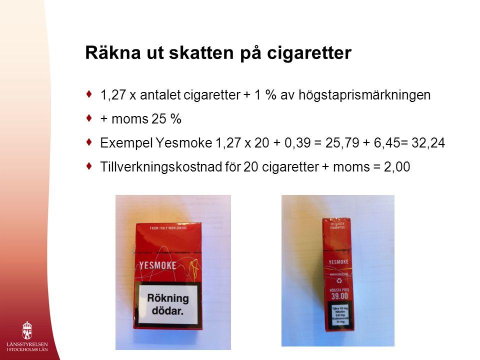 Räkna ut skatten på cigaretter