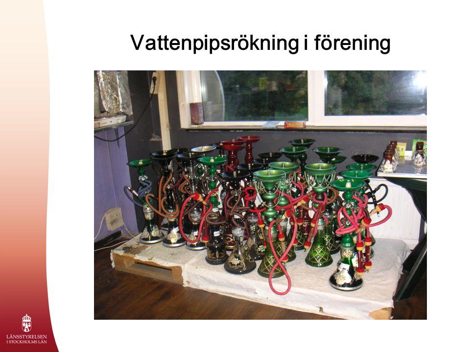 Vattenpipsrökning i förening