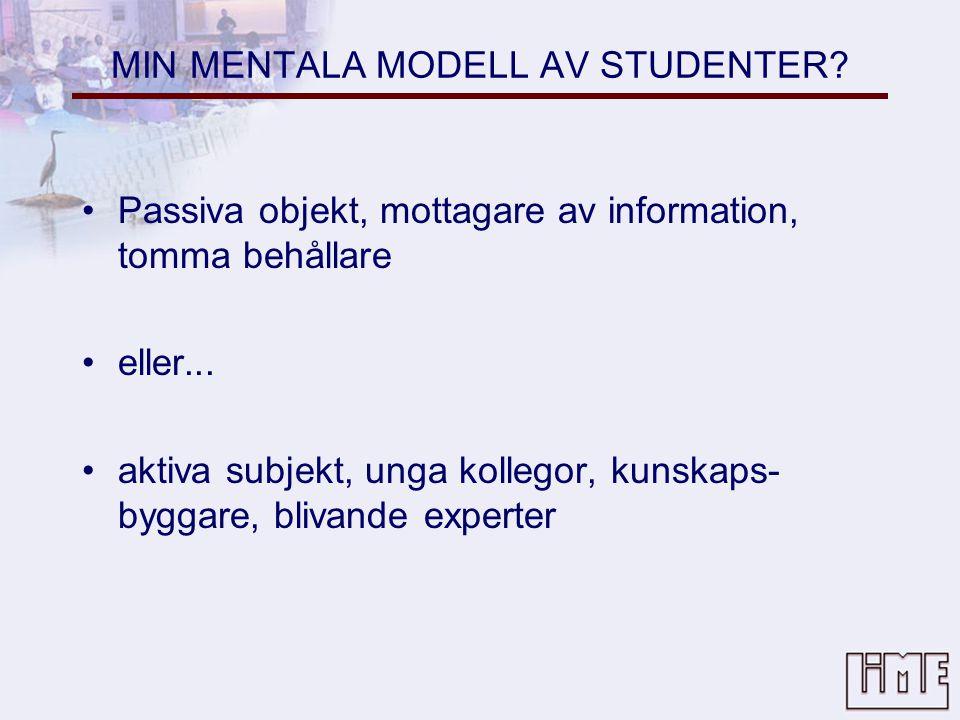 MIN MENTALA MODELL AV STUDENTER