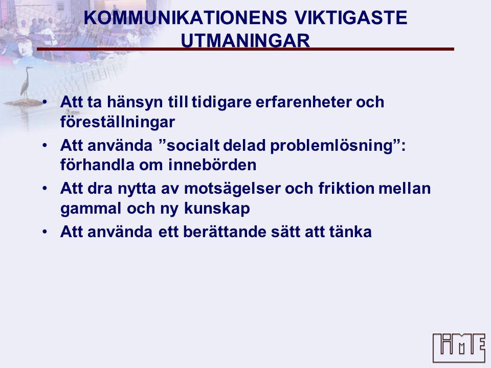 KOMMUNIKATIONENS VIKTIGASTE UTMANINGAR