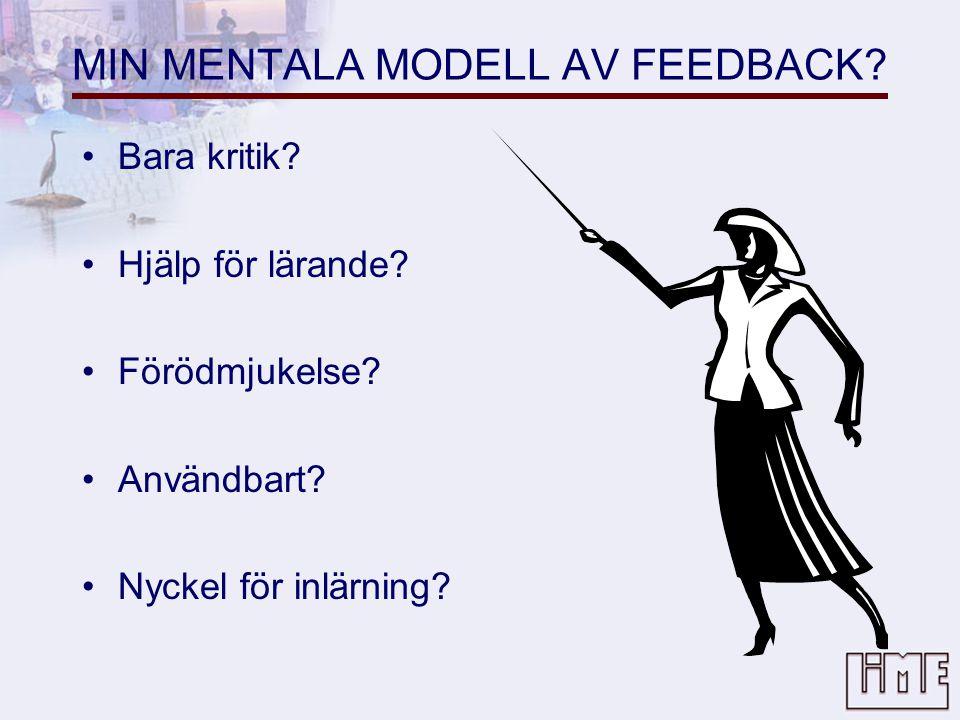 MIN MENTALA MODELL AV FEEDBACK