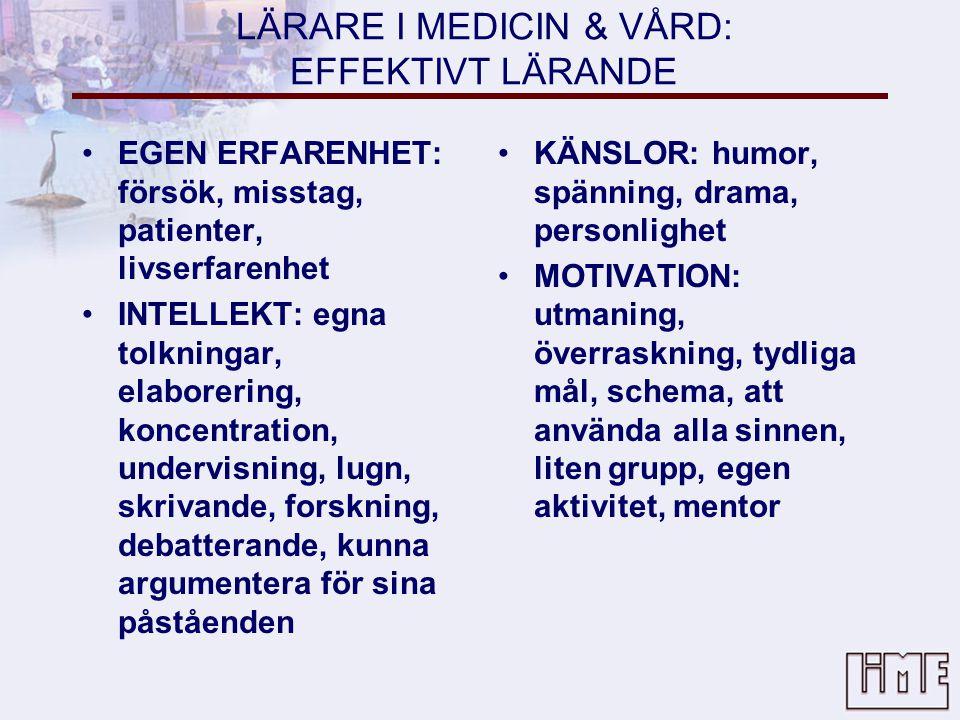 LÄRARE I MEDICIN & VÅRD: EFFEKTIVT LÄRANDE