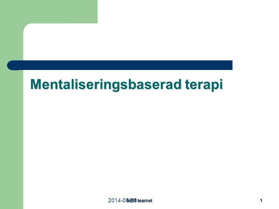 Mentaliseringsbaserad terapi