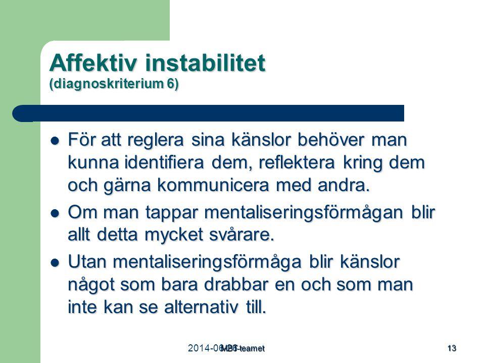 Affektiv instabilitet (diagnoskriterium 6)