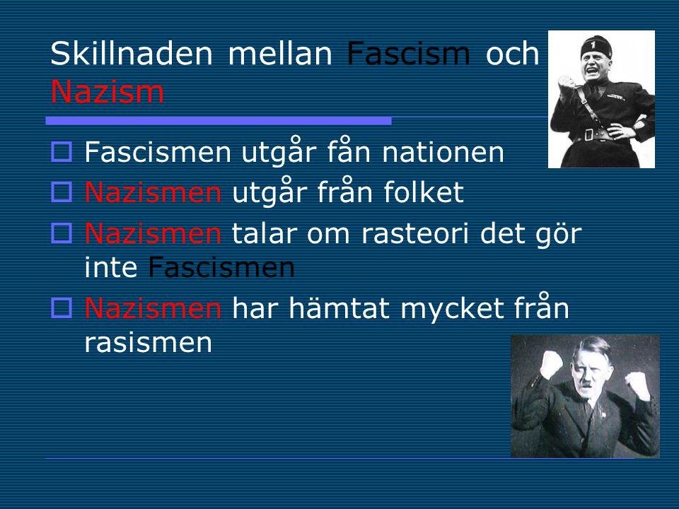 Skillnaden mellan Fascism och Nazism