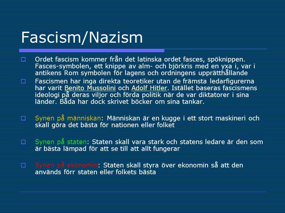 Fascism/Nazism