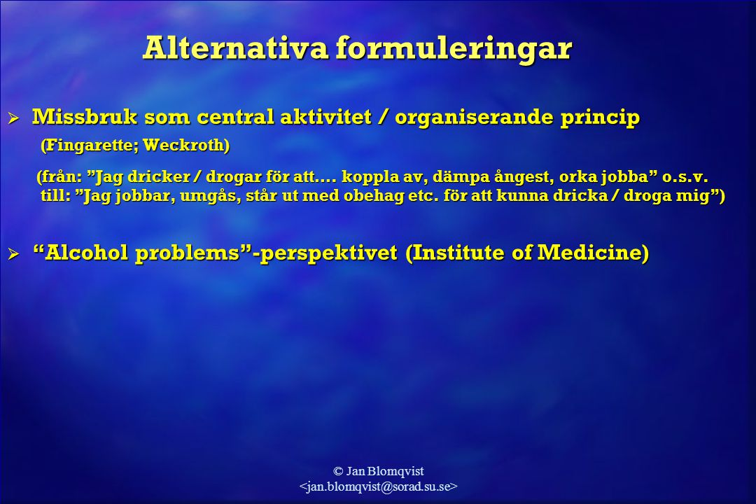 Alternativa formuleringar