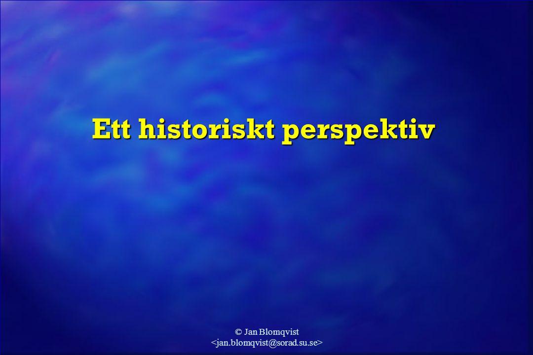 Ett historiskt perspektiv
