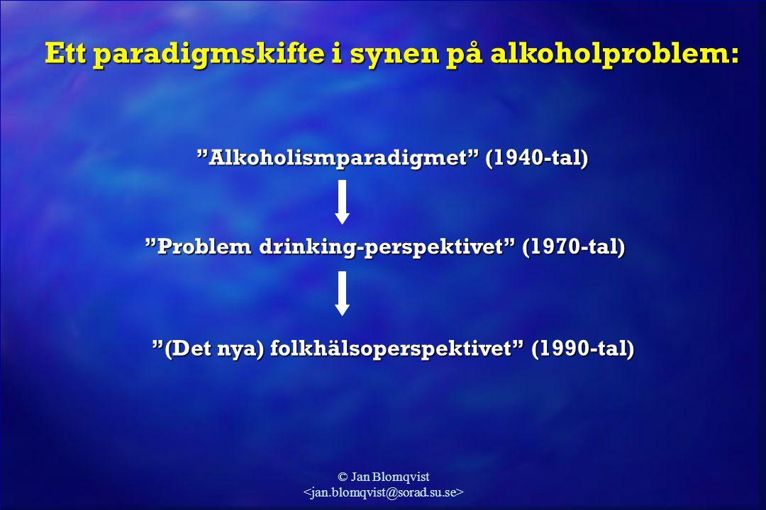 Ett paradigmskifte i synen på alkoholproblem: