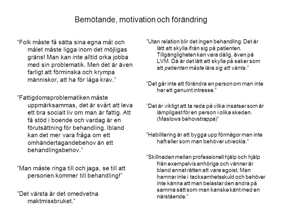 Bemötande, motivation och förändring