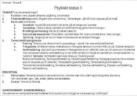 Psykiskt status II. Norrman / Pikwer ©