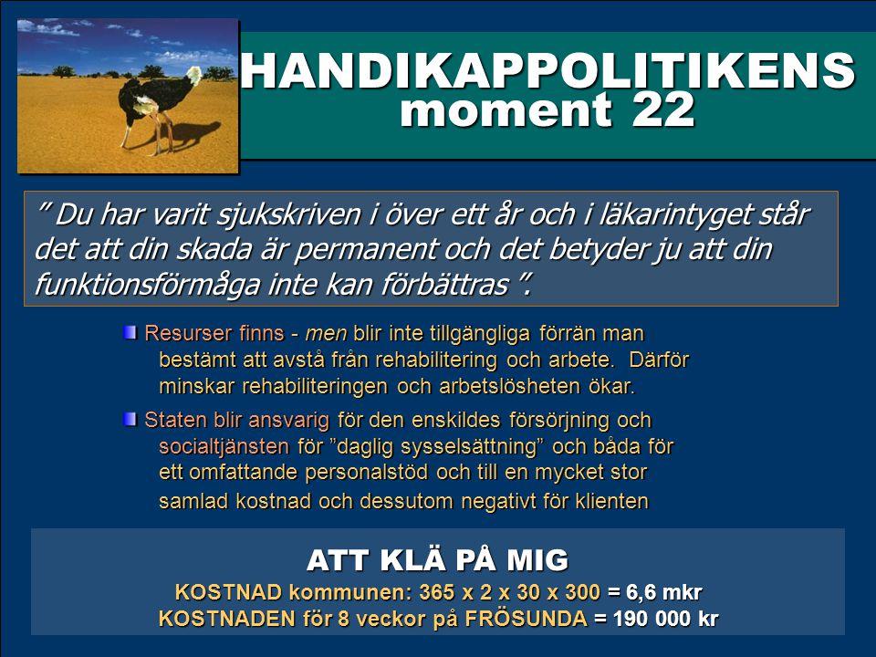HANDIKAPPOLITIKENS moment 22