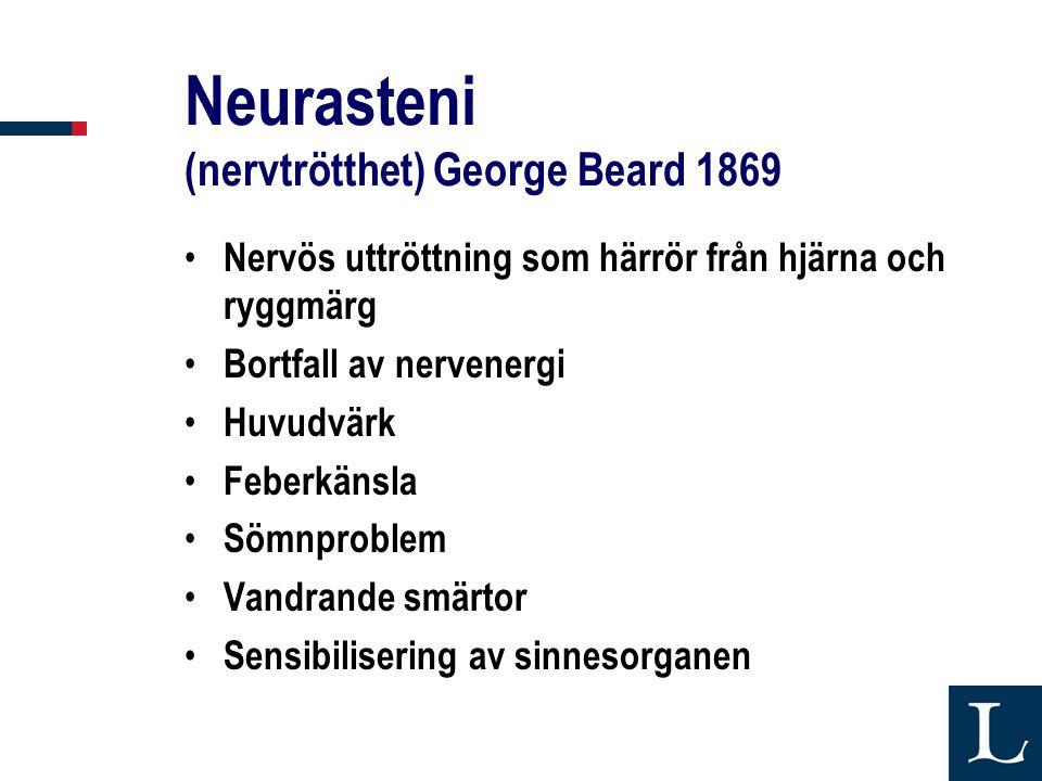 Neurasteni (nervtrötthet) George Beard 1869