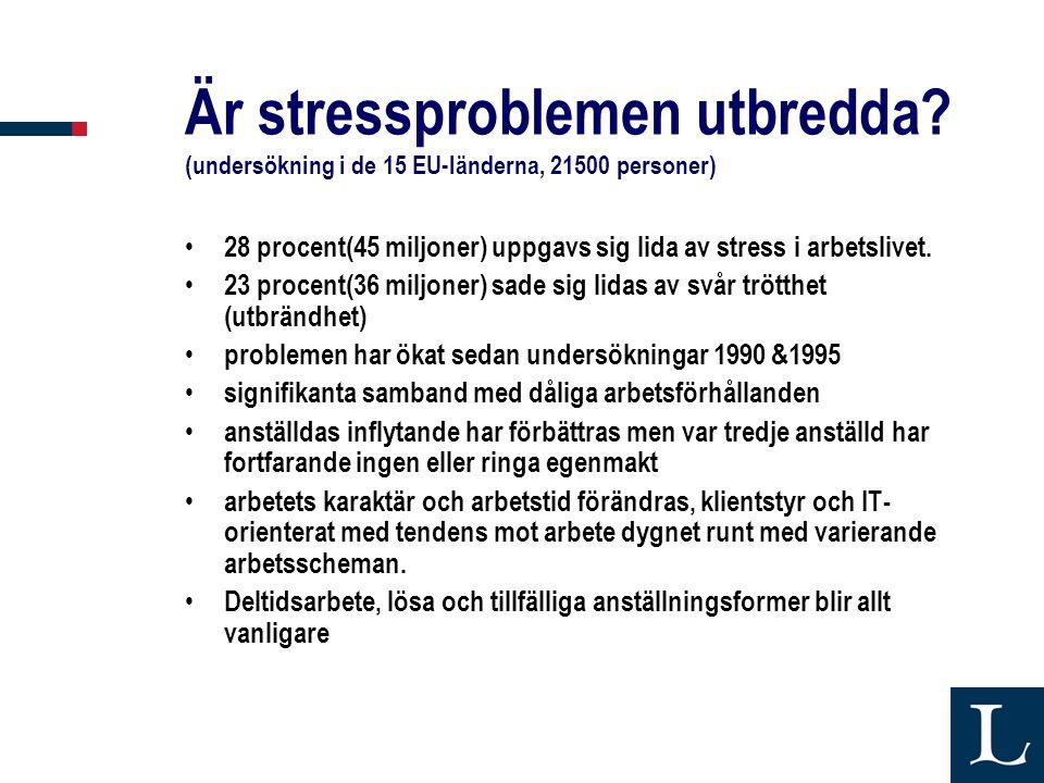 Är stressproblemen utbredda
