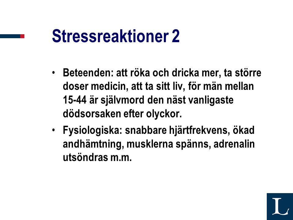 Stressreaktioner 2