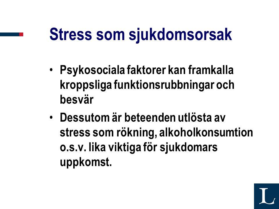 Stress som sjukdomsorsak