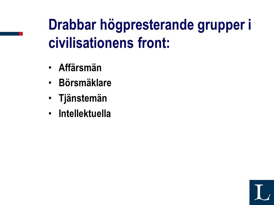 Drabbar högpresterande grupper i civilisationens front: