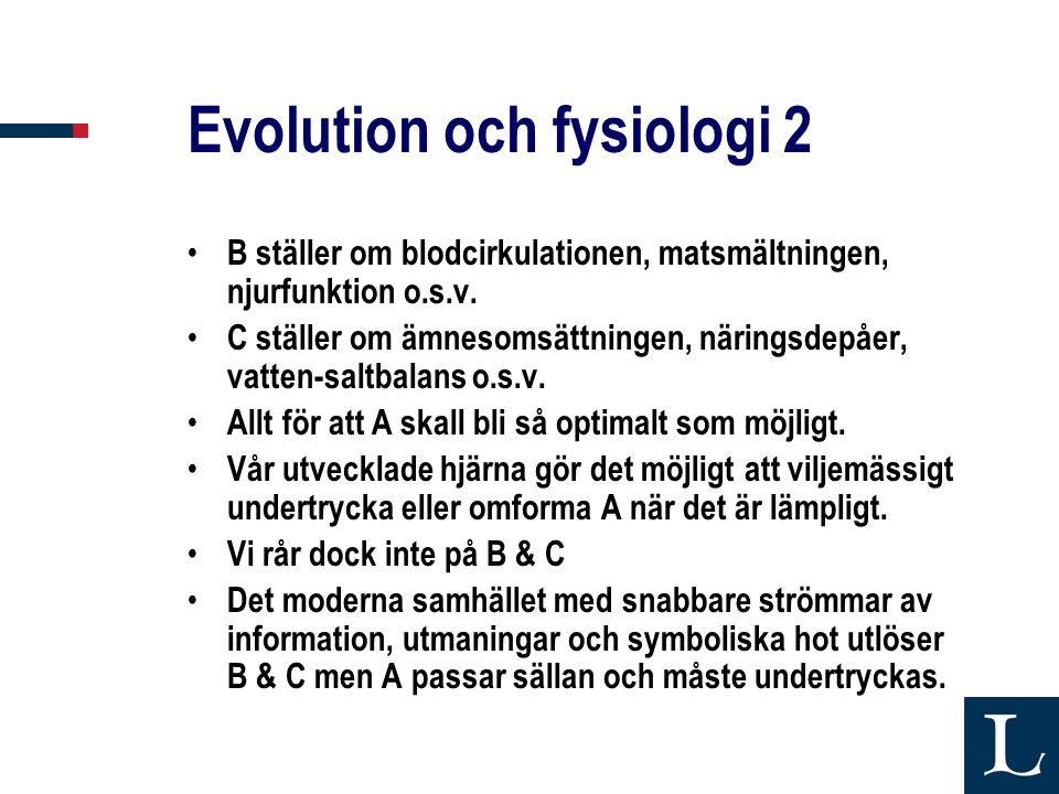 Evolution och fysiologi 2