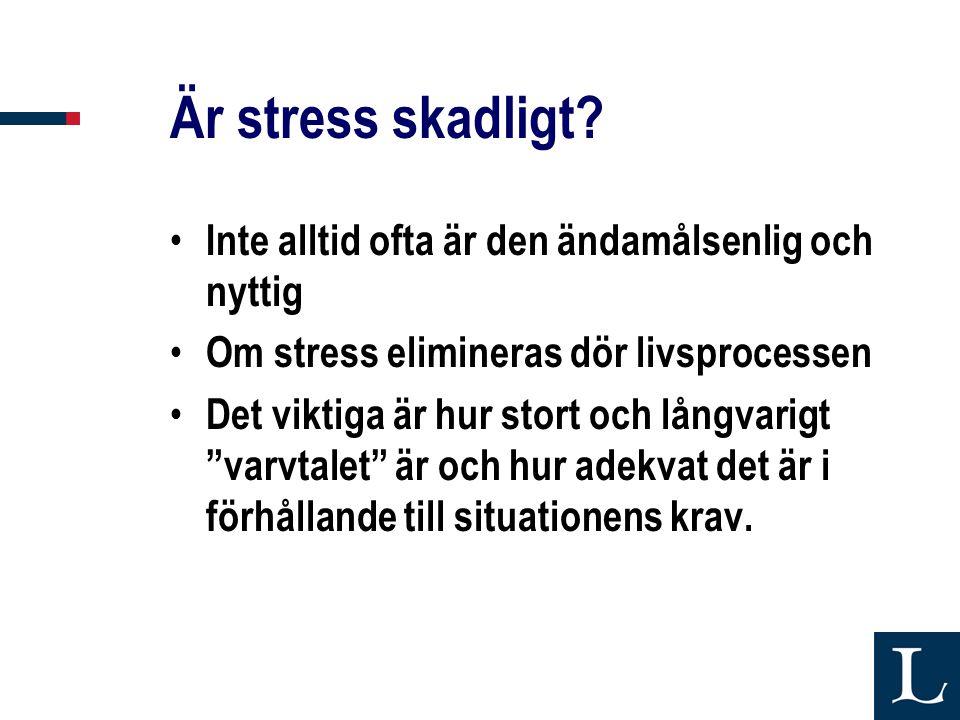 Är stress skadligt Inte alltid ofta är den ändamålsenlig och nyttig