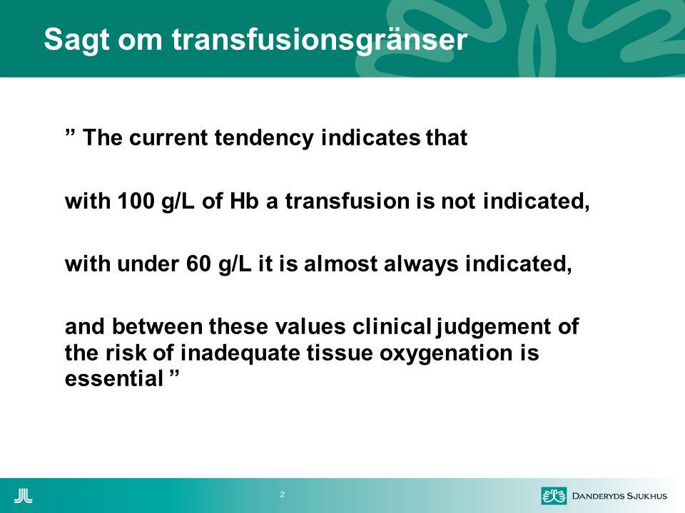 Sagt om transfusionsgränser