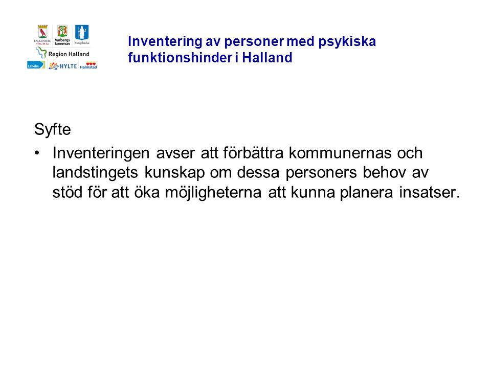 Inventering av personer med psykiska funktionshinder i Halland
