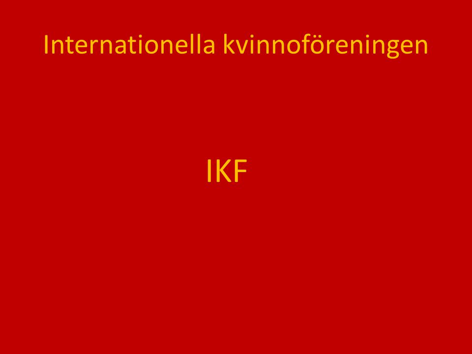 Internationella kvinnoföreningen
