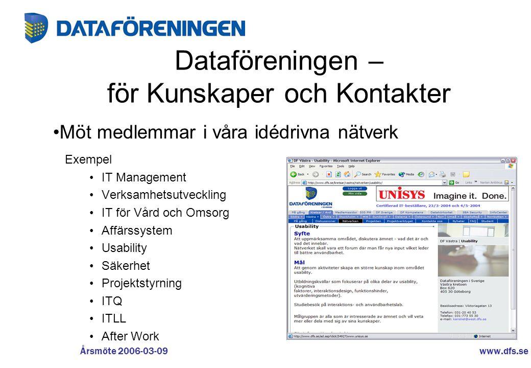 Dataföreningen – för Kunskaper och Kontakter