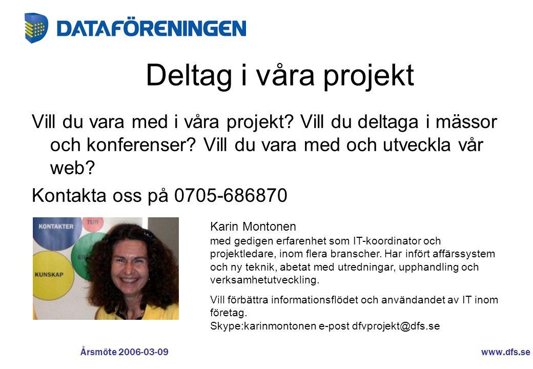 Deltag i våra projekt Vill du vara med i våra projekt Vill du deltaga i mässor och konferenser Vill du vara med och utveckla vår web