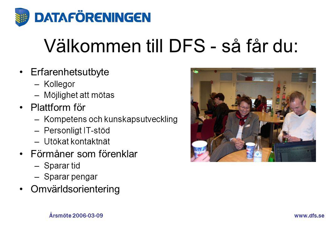 Välkommen till DFS - så får du: