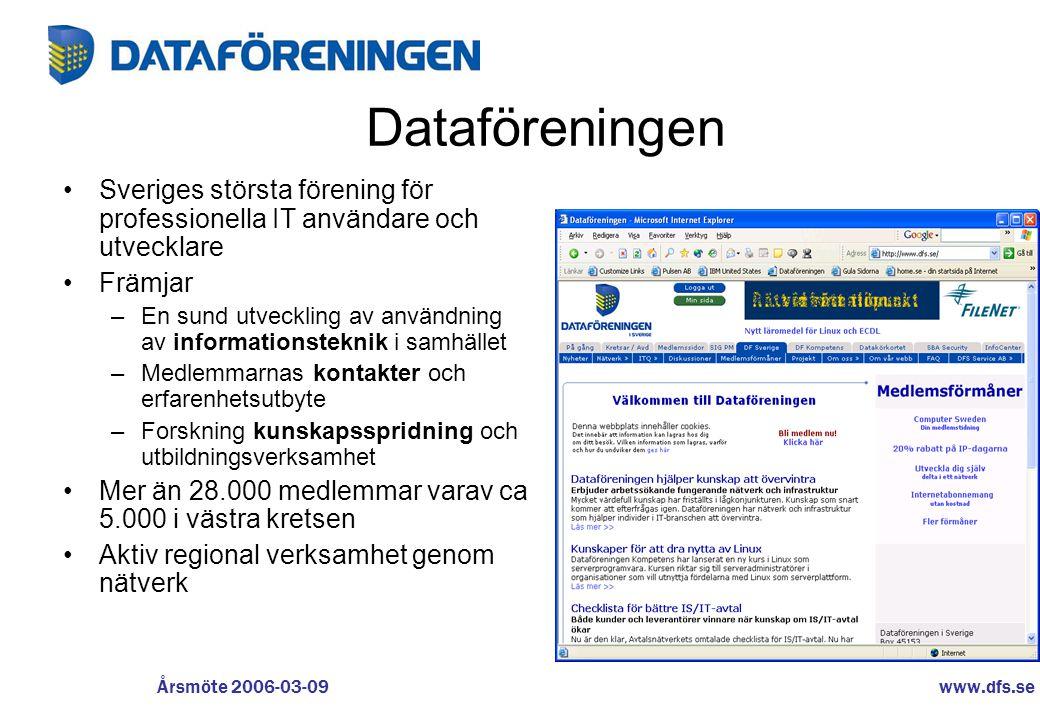 Dataföreningen Sveriges största förening för professionella IT användare och utvecklare. Främjar.