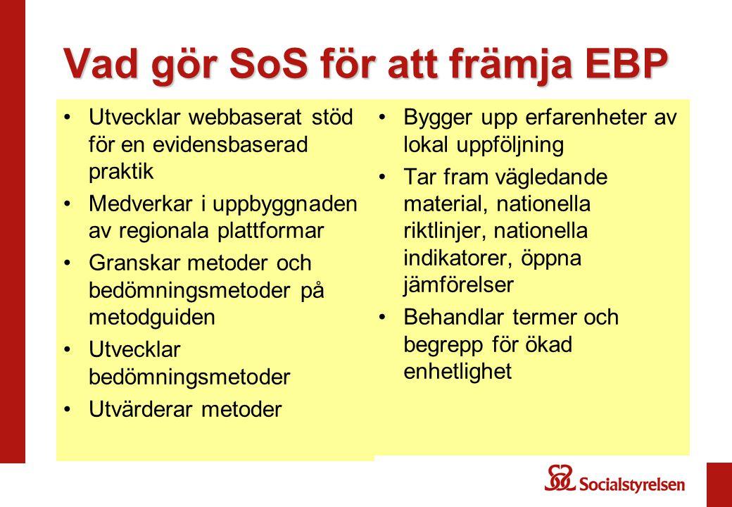 Vad gör SoS för att främja EBP