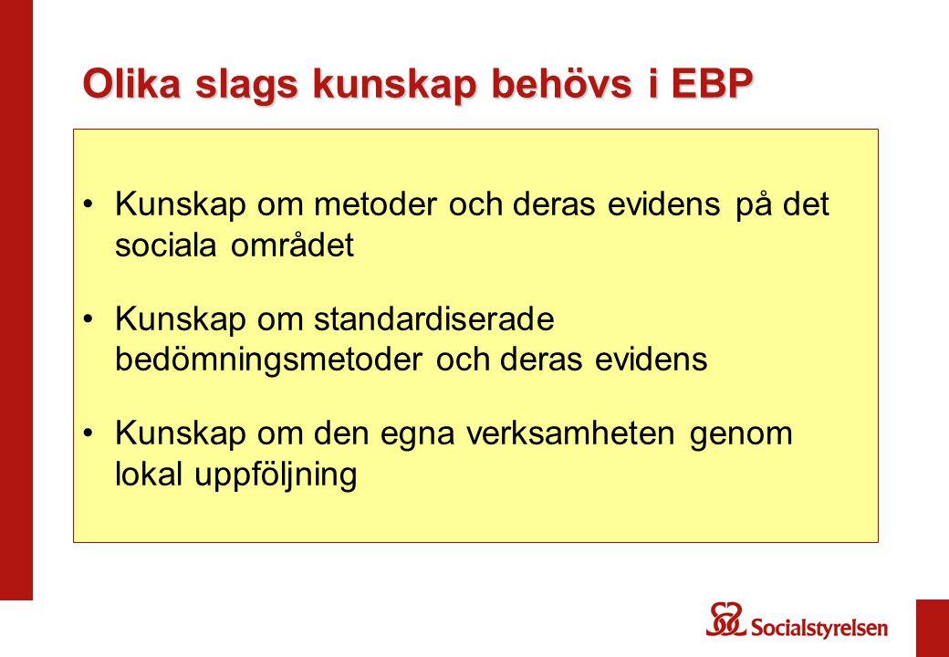 Olika slags kunskap behövs i EBP