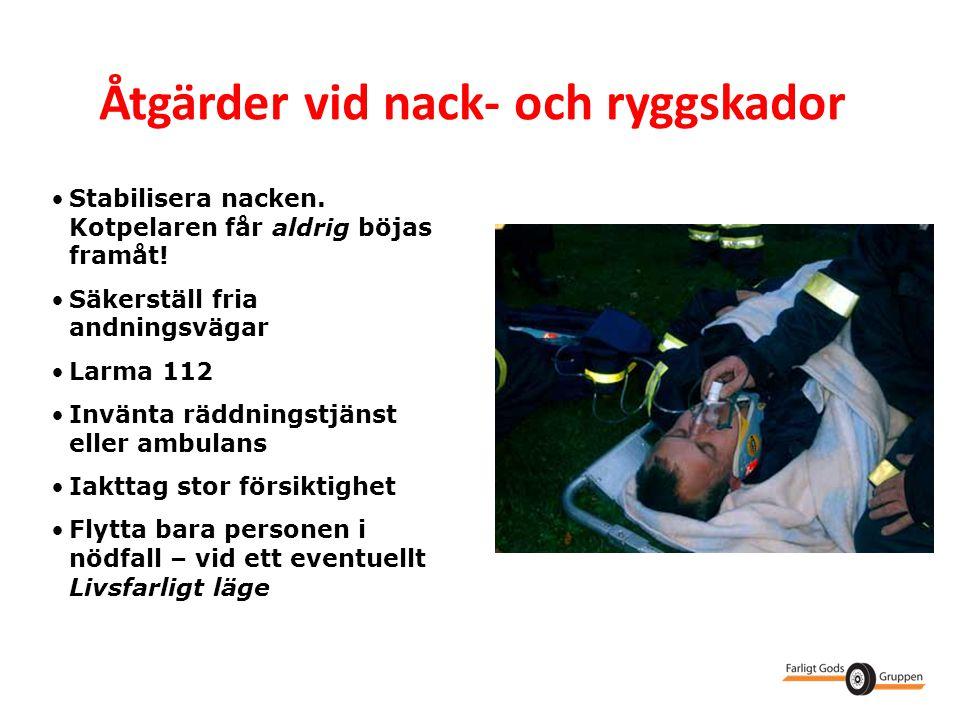 Åtgärder vid nack- och ryggskador