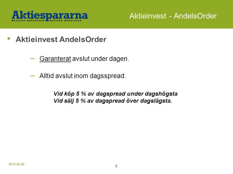 Aktieinvest - AndelsOrder