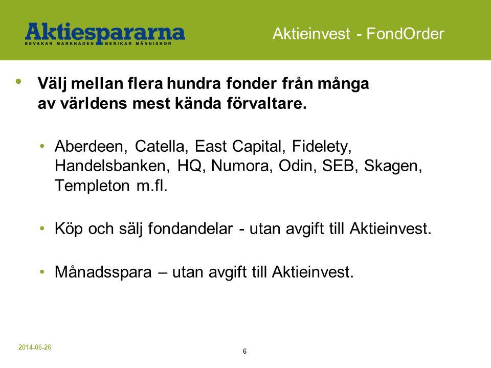 Aktieinvest - FondOrder