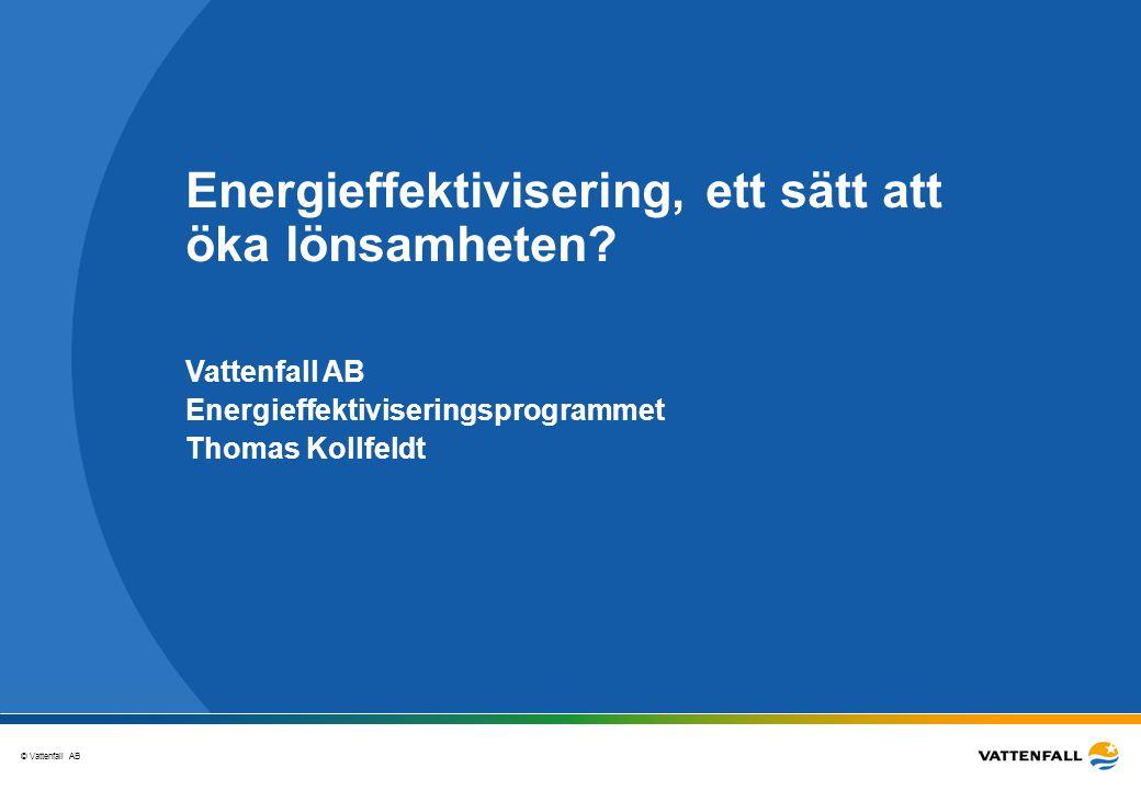 Energieffektivisering, ett sätt att öka lönsamheten