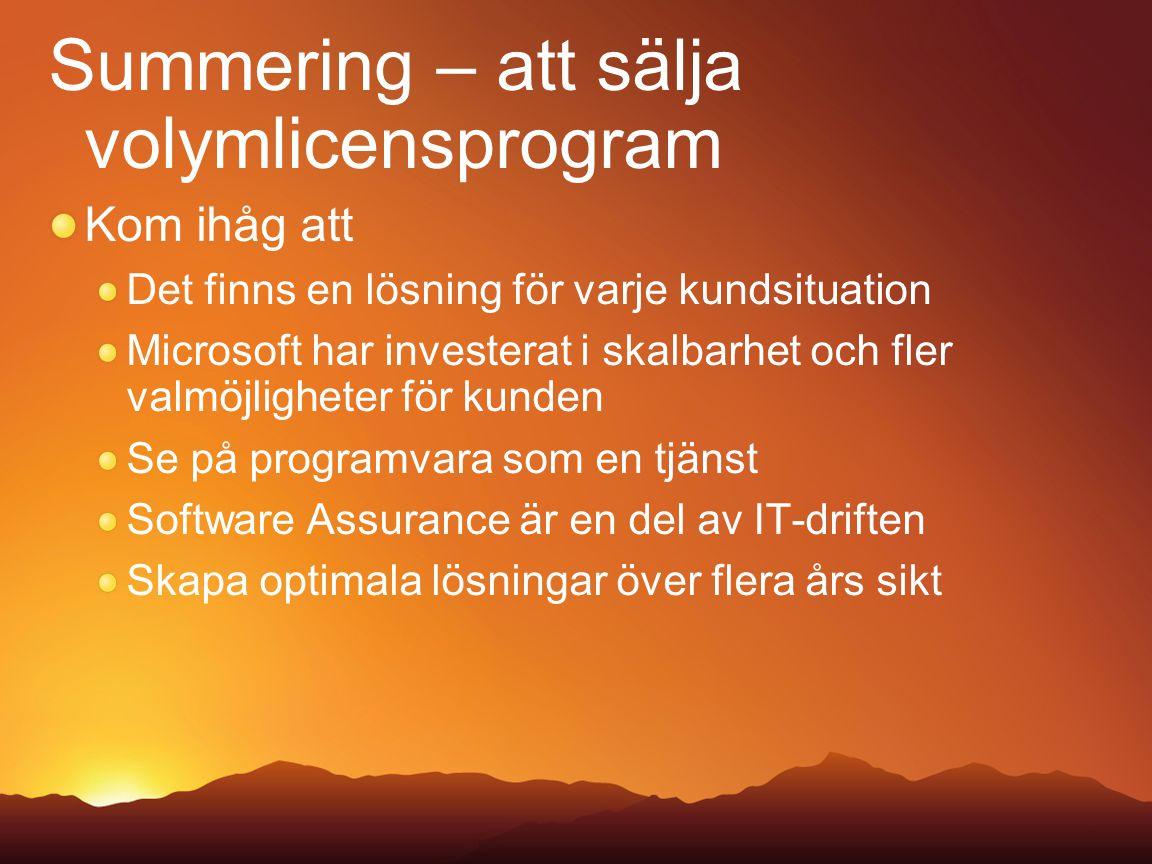 Summering – att sälja volymlicensprogram