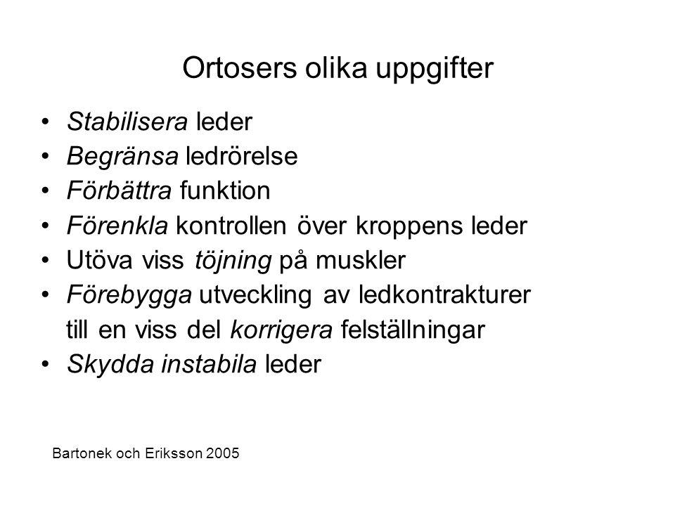 Ortosers olika uppgifter