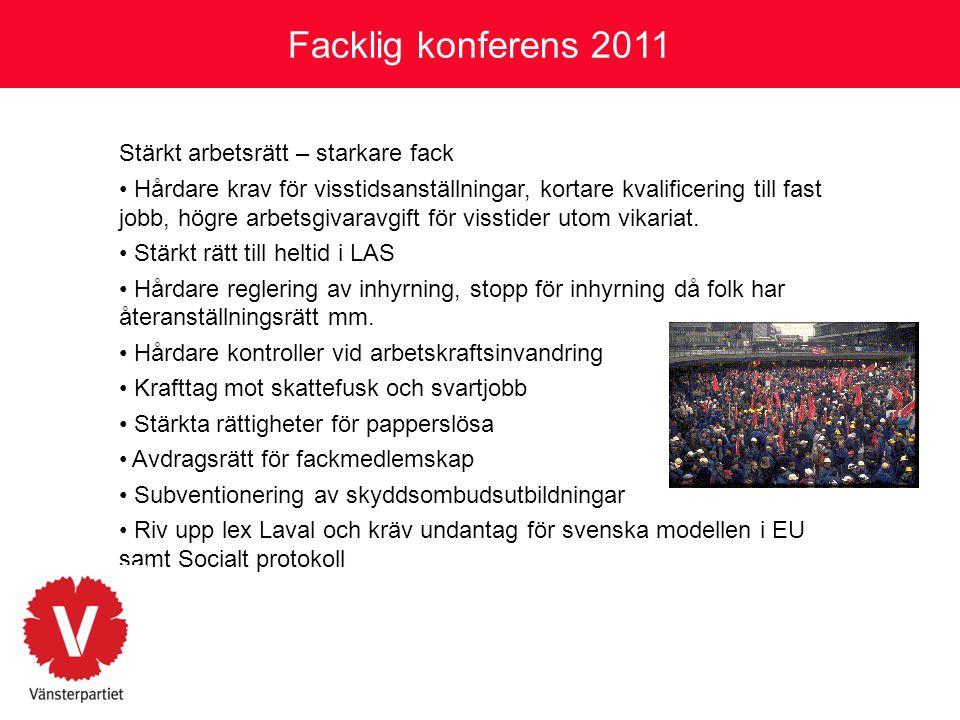 Facklig konferens 2011 Stärkt arbetsrätt – starkare fack