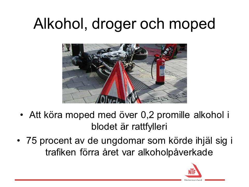 Alkohol, droger och moped