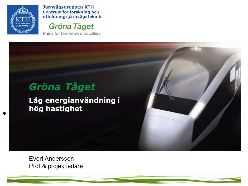 Gröna Tåget Låg energianvändning i hög hastighet Evert Andersson