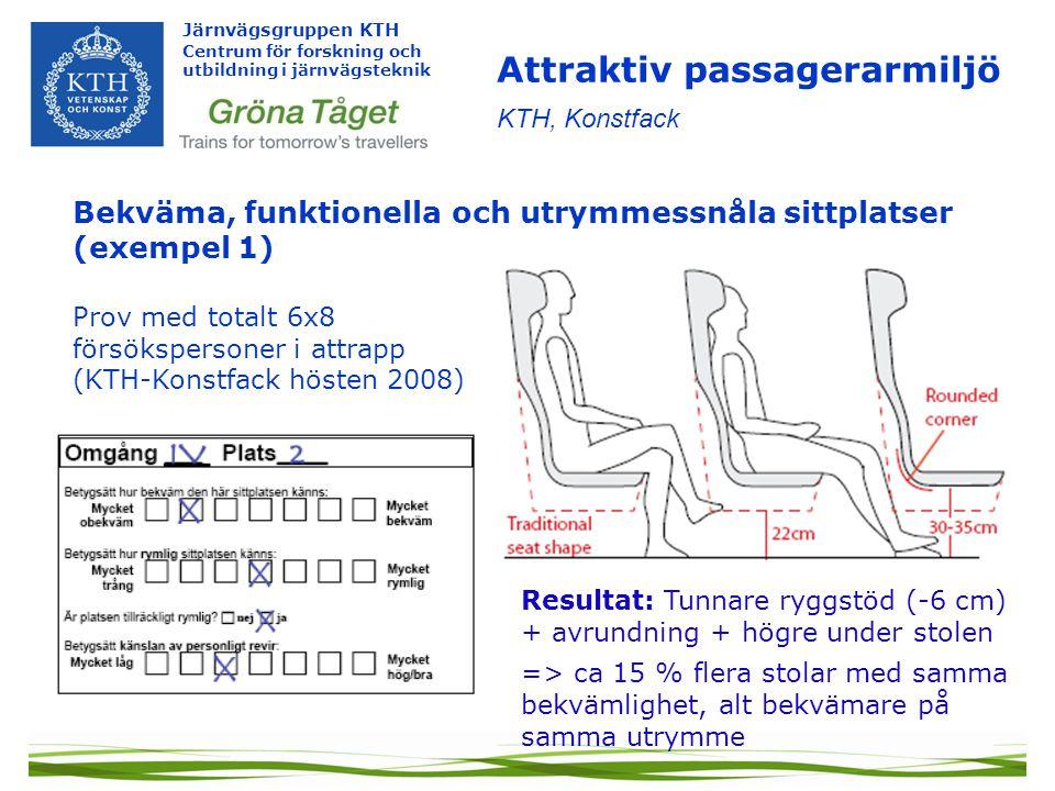 Attraktiv passagerarmiljö