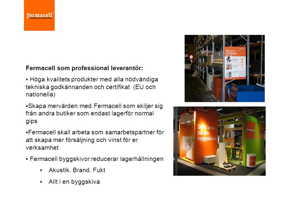Fermacell som professional leverantör: