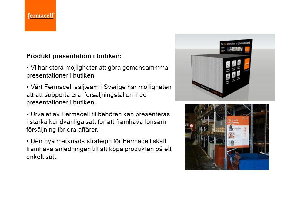 Produkt presentation i butiken: